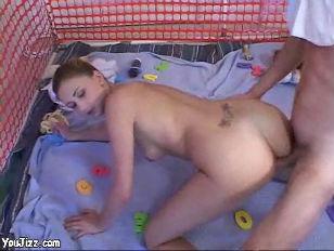 Real sexy babysitter fucks thi