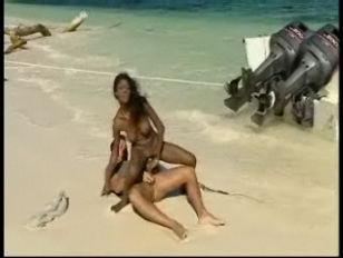 Picture Black Babe Jenna Brooks Beach Sex