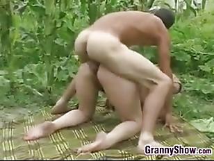 Picture Grandma Butt Fucked Outside