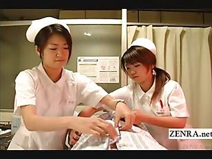 Picture Subtitled CFNM Japanese Nurses Hospital Hand...