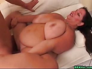 Picture Huge Tits BBW MILF Sucks Cock And Gets Fucke