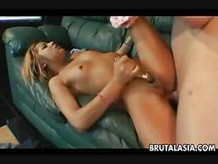 Picture Blonde Asian Bitch Getting Fucked Deep In He...