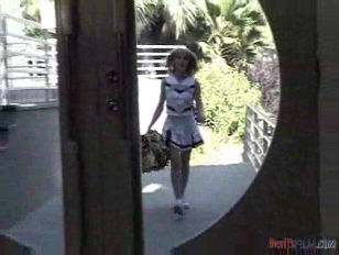 Picture Young Girl 18+ Cheerleader Nailed In Stairs