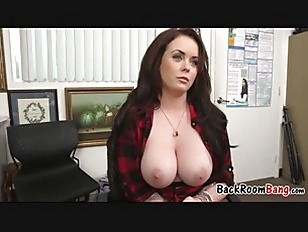 Milf Tits Hanging Out During Interview
