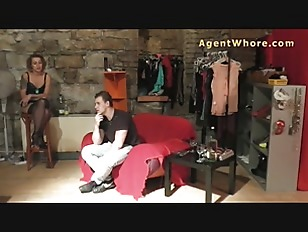 Reversed casting slovak guy gets blowjob from redhead milf 1