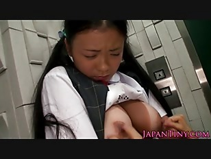 Picture Japanese Schoolgirl Tanlined Breast Fondled