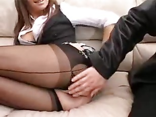 Cate fucked and jizzed by two