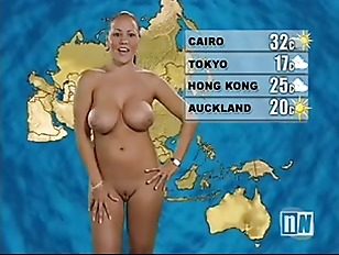 Naked weather girls