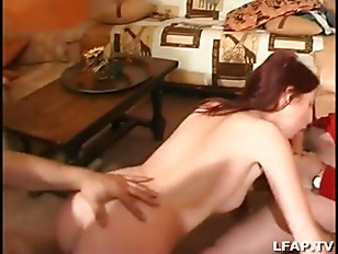 French maid gets ass fucked in threes...