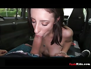 Picture Big Ass Brunette Fucked On BangBus P4