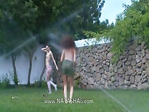 Picture Polish Chicks Watersports In The Garden