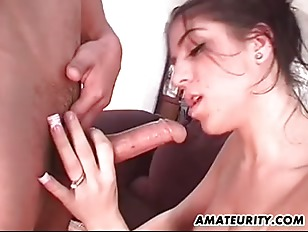Amateur girlfriend homemade action with facial