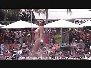 Picture Dantes Pool Wet Tshirt Pole Contest During F...
