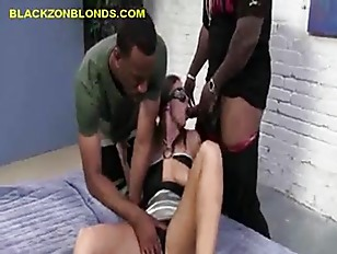 Picture Three Black Studs Share With Brunette