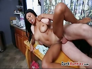 Mocha skinned cutie interracial fucking