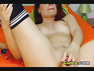 Picture Hot Amateur Babe With Glasses Masturbate On...