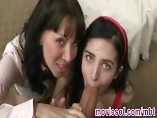Picture Horny Stepmom Teaches Her Stepdaughter How T...