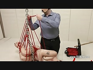 Picture To Much Of Rope And Beautiful BDSM Submissiv...