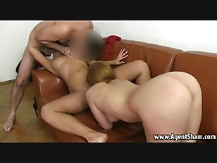 Picture Brunette Sucks Cock While Getting Her Pussy...