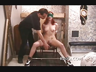 Sexy bitch gets hog tied and tit-tort...