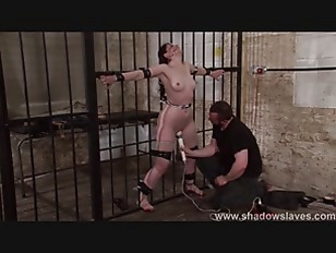 Slave caroline pierces frontal whipping and tied dungeon bon 2