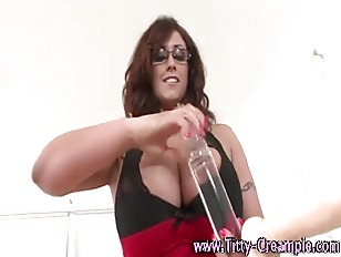 Picture Busty Dirty Slut Toying Tits