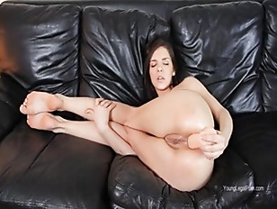 Picture Hard Dildo Deeply In Her Ass
