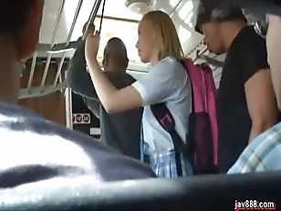 Asian guys rape white girl on the bus