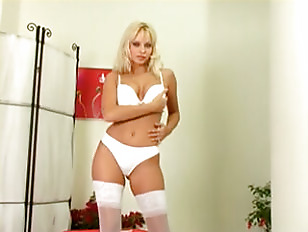 Picture Blonde Wearing Lingerie Solo