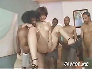 Interracial Japanese babe gang bang ▶19:55