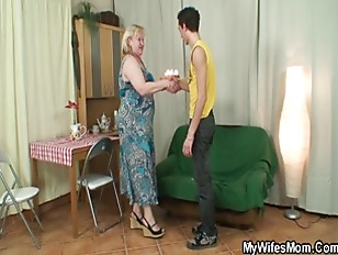 Picture Huge Old Bag Gets Screwed By Slim Son-in-law