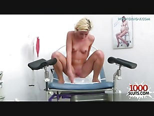 Picture Blonde Chick Dildo Play In Clinic