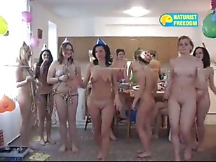 Czech nudism girls at party
