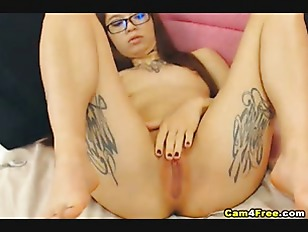 Picture Nerdy Young Girl 18+ Girl Enjoy Fingering He...
