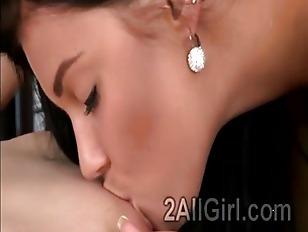 Picture Brunette Lezzie Tongues Beautiful Ginger Dur...