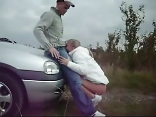Picture Hot Blonde Outdoor Deep Throat