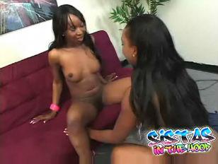 Picture Ebony Lesbians Dildo Fucking