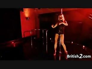 Picture British Blonde Stripper Dancing