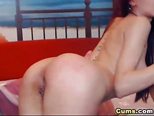 Picture Nice Ass Babe Slides Her Dildo Deep