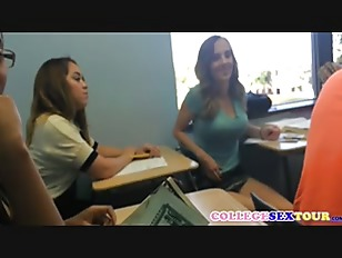 Student Flashing Boobs For Cash In Classroom