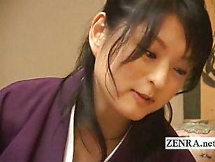 Picture A Comely Japanese Beauty Gives A Caring CFNM...