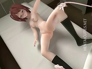 3D hentai minx fucking long tentacles...