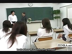 Picture Subtitled CFNM Japanese Classroom Masturbati...