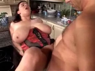 Picture Big Boobs In The Kitchen