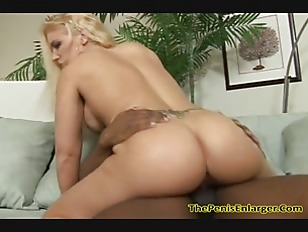 Picture Horny Blonde Sucked A Big Black Cock And Get...