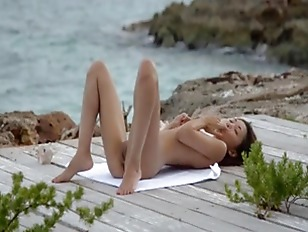 Picture Korean Angel Teasing By The Ocean