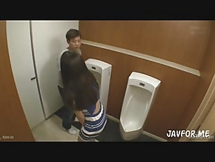 Picture Cute Asian Pounded At Men's Washroom