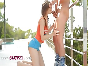 Picture Breasty Young 19y. Girls Deepthroad On Balcony