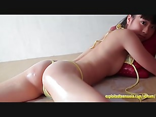 Mizuki Otsuka Jav Amateur Debut Teen Gets Sensual Gel Massage Bikini Pulled Between Labia Amazing Gravure Babe