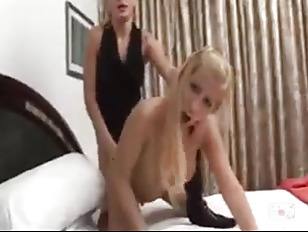 Two hot shemales in a sexy playtime 8